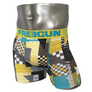 FREEGUN(フリーガン) ボクサーパンツ メンズ アンダーウェア インナー 男性下着 下着 メンズボクサーパンツ ギフト プレゼント 誕生日プレゼント 840007 FG28 SUM  (02.イエロー L)