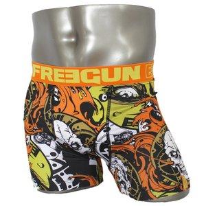 FREEGUN(フリーガン) ボクサーパンツ メンズ アンダーウェア インナー 男性下着 下着 メンズボクサーパンツ ギフト プレゼント 誕生日プレゼント 840008 FG28 GRR  (02.オレンジ L) h01