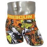 FREEGUN(フリーガン) ボクサーパンツ メンズ アンダーウェア インナー 男性下着 下着 メンズボクサーパンツ ギフト プレゼント 誕生日プレゼント 840008 FG28 GRR  (02.オレンジ L)