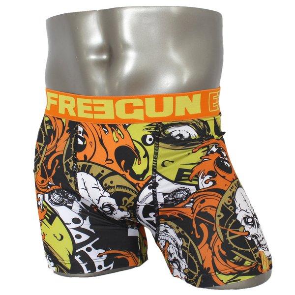 FREEGUN(フリーガン) ボクサーパンツ メンズ アンダーウェア インナー 男性下着 下着 メンズボクサーパンツ ギフト プレゼント 誕生日プレゼント 840008 FG28 GRR  (02.オレンジ L)f00