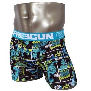 FREEGUN(フリーガン) ボクサーパンツ メンズ アンダーウェア インナー 男性下着 下着 メンズボクサーパンツ ギフト プレゼント 誕生日プレゼント 840009 FG27 XBOTS (01.サックス L)