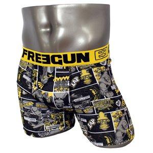 FREEGUN(フリーガン) ボクサーパンツ メンズ アンダーウェア インナー 男性下着 下着 メンズボクサーパンツ ギフト プレゼント 誕生日プレゼント 840009 FG27 XBOTS (02.イエロー M)