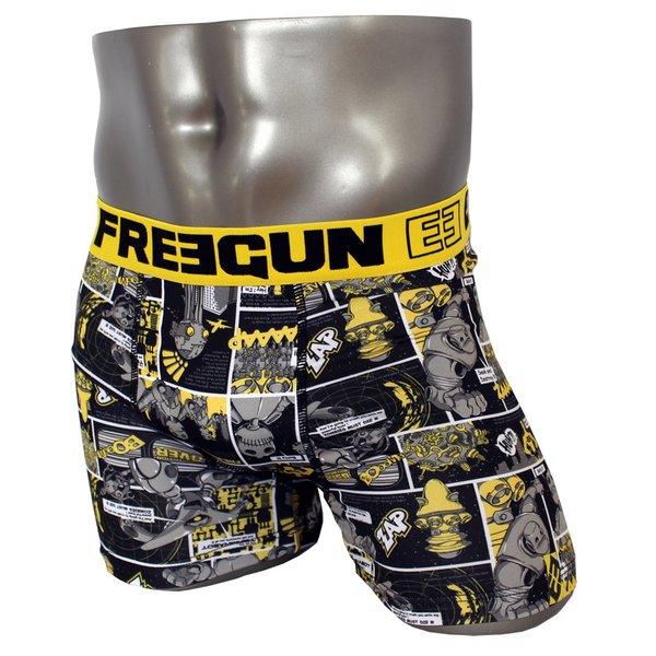 FREEGUN(フリーガン) ボクサーパンツ メンズ アンダーウェア インナー 男性下着 下着 メンズボクサーパンツ ギフト プレゼント 誕生日プレゼント 840009 FG27 XBOTS (02.イエロー M)f00
