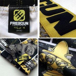 FREEGUN(フリーガン) ボクサーパンツ メンズ アンダーウェア インナー 男性下着 下着 メンズボクサーパンツ ギフト プレゼント 誕生日プレゼント 840009 FG27 XBOTS (02.イエロー M) h03