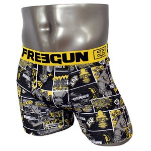おしゃれでシンプルなファッション FREEGUN(フリーガン) ボクサーパンツ メンズ アンダーウェア インナー 男性下着 下着 メンズボクサーパンツ ギフト プレゼント 誕生日プレゼント 840009 FG27 XBOTS (02.イエロー M/Lサイズ)