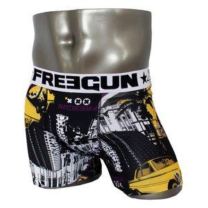 FREEGUN(フリーガン) ボクサーパンツ メンズ アンダーウェア インナー 男性下着 下着 メンズボクサーパンツ ギフト プレゼント 誕生日プレゼント 840010 FG27 BMXER (01.ホワイト L)