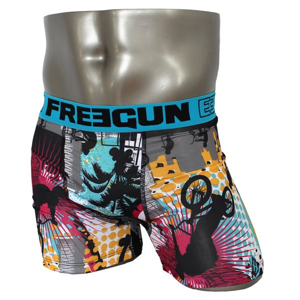 FREEGUN(フリーガン) ボクサーパンツ メンズ アンダーウェア インナー 男性下着 下着 メンズボクサーパンツ ギフト プレゼント 誕生日プレゼント 840010 FG27 BMXER (02.サックス L)f00