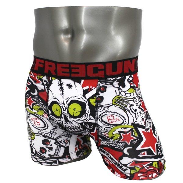 FREEGUN(フリーガン) ボクサーパンツ メンズ アンダーウェア インナー 男性下着 下着 メンズボクサーパンツ ギフト プレゼント 誕生日プレゼント 840025 FG26 LACK (M)f00