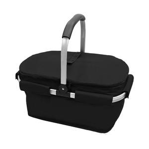 【マルチクーラーバスケット? (L) 】保冷バッグ おしゃれ レジかご 折りたたみ 買い物バッグ クーラーバスケット ピクニック エコバッグ ショッピングバスケット クラシックブラック(CBK2-L)
