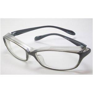 ブルーライト対応 鯖江産レンズ使用PC&花粉メガネ グレー