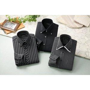 ドレスシャツ3枚組 50221(ブラック系) Lサイズ - 拡大画像