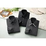 ドレスシャツ3枚組 50221(ブラック系) Lサイズ