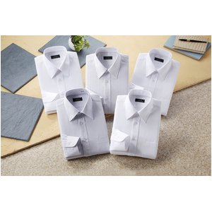 銀座・丸の内のOL100人が選んだワイシャツ&ネクタイセット Lサイズ - 拡大画像