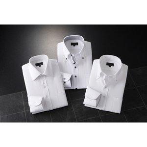 ADC長袖ドレスシャツ3枚組スリム A【Lサイズ】
