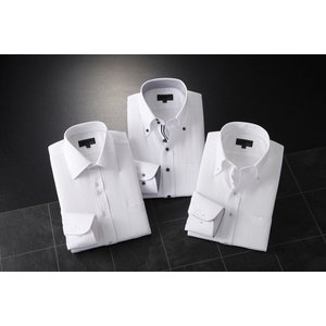 ADC長袖ドレスシャツ3枚組スリム A【Mサイズ】 - 拡大画像