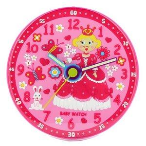 子供部屋用掛け時計 ベビーウォッチ お姫様 - 拡大画像