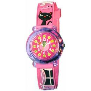子供用腕時計 ベビーウォッチ ジップザップ ネコ - 拡大画像