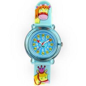 子供用腕時計 ベビーウォッチ ジップザップ 乗馬(ブルー)  - 拡大画像