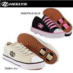 hys-003 【HEELYS/ヒーリーズ】ローラーシューズ HX2 JAZZY ジャジー 7639 ベージュ 26cm