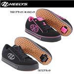 hys-004 【HEELYS/ヒーリーズ】ローラーシューズ WAVE ウェーブ 7691 ブラック/ホットピンク 24cm