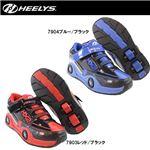 hys-010 【HEELYS/ヒーリーズ】ローラーシューズ SPIN スピン 7903 レッド/ブラック 19cm