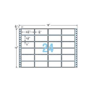 東洋印刷 ナナフォーム 連続ラベル Mタイプ 15×10インチ 24面 84×38mm 横2縦5本ミシン入 M15J 1箱(500折) h01