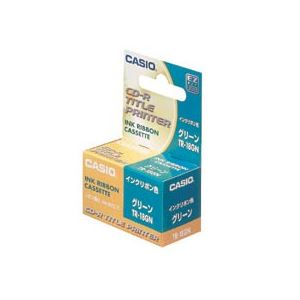カシオCASIODISCタイトルプリンターインクリボンカセットグリーンTR-18GN1個