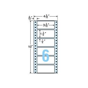 東洋印刷 ナナフォーム 連続ラベル Mタイプ 4_5/10×10インチ 6面 84×38mm MM4N 1箱(1000折:500折×2冊) h01