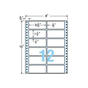 東洋印刷 ナナフォーム 連続ラベル Mタイプ 8×10インチ 12面 84×38mm MT8C 1箱(500折) h01