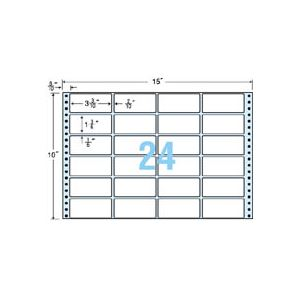 東洋印刷 ナナフォーム 連続ラベル Mタイプ 15×10インチ 24面 84×38mm M15F 1箱(500折) h01