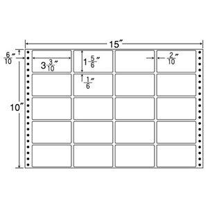 東洋印刷 ナナフォーム 連続ラベル Mタイプ 15×10インチ 20面 84×47mm M15E 1箱(500折) h01