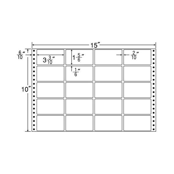 東洋印刷 ナナフォーム 連続ラベル Mタイプ 15×10インチ 20面 84×47mm M15E 1箱(500折)f00