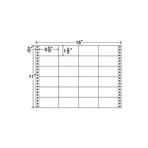 東洋印刷 ナナフォーム 連続ラベル Mタイプ 15×11インチ 24面 89×47mm M15G 1箱(500折) h01