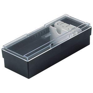 (まとめ) セキセイ ネームカードボックス 700名用 CB-700-60ブラック 1個 【×5セット】