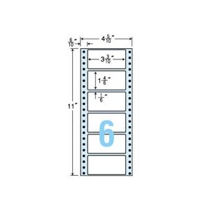 東洋印刷 ナナフォーム 連続ラベル Mタイプ 4_5/10×11インチ 6面 84×42mm MM4K 1箱(1000折:500折×2冊) h01