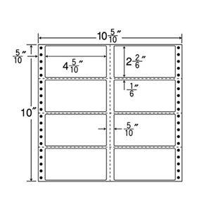 東洋印刷 ナナフォーム 連続ラベル Mタイプ 10_5/10×10インチ 8面 114×59mm 横3縦1ミシン入 M10C 1箱(500折) h01