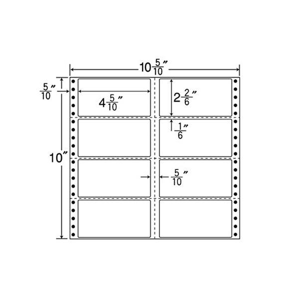 東洋印刷 ナナフォーム 連続ラベル Mタイプ 10_5/10×10インチ 8面 114×59mm 横3縦1ミシン入 M10C 1箱(500折)f00