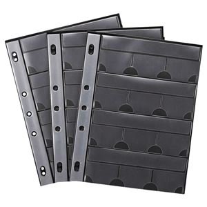 (まとめ)サンワサプライメモリーカードファイルケースシートA42・3・4穴片面12ポケットFC-MMC9BK1パック(3枚)【×4セット】