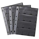(まとめ) サンワサプライ メモリーカードファイルケースシート A4 2・3・4穴 片面12ポケット FC-MMC9BK 1パック(3枚) 【×4セット】