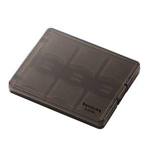 SD メモリカードケース 大容量タイプ クリアブラック - 拡大画像
