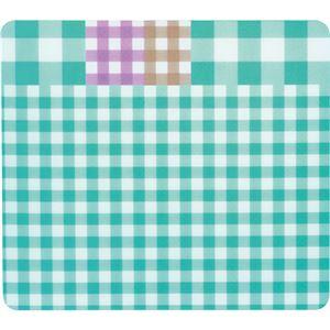 TANOSEE ECOマウスパッド(ギンガムチェック柄) ブルー 1枚 【×5セット】 h01