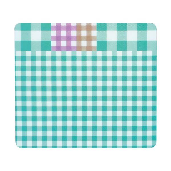 TANOSEE ECOマウスパッド(ギンガムチェック柄) ブルー 1枚 【×5セット】f00