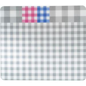 TANOSEE ECOマウスパッド(ギンガムチェック柄) ブラック 1枚 【×5セット】 h01