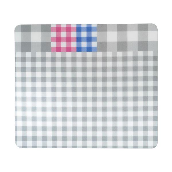 TANOSEE ECOマウスパッド(ギンガムチェック柄) ブラック 1枚 【×5セット】f00