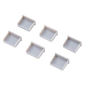 (まとめ) サンワサプライ USBコネクタキャップ つめなし TK-UCAP2-20 1パック(20個) 【×4セット】 - 拡大画像