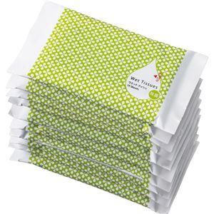 (まとめ)TANOSEEアルコール除菌ウェットティッシュポケットタイプ10枚入1パック(10個)【×5セット】