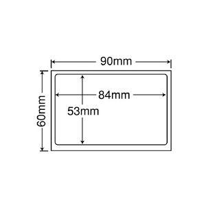 東洋印刷 地紋印刷入 ナナ目隠しラベル 再剥離タイプ 90×60mm 1面 ラベルサイズ84×53mm PPE-3 1箱(1000枚:100枚×10冊) h02