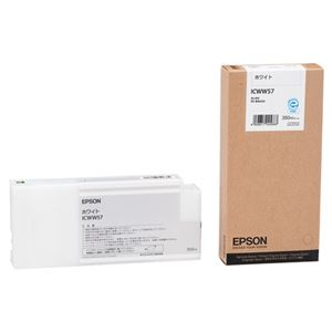 (まとめ) エプソン EPSON PX-P/K3インクカートリッジ ホワイト 350ml ICWW57 1個 【×3セット】
