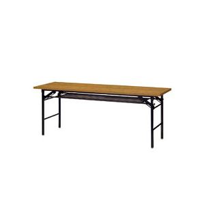 ダイセン 折りたたみテーブル W1800×D600mm チーク OTK-1860TKT-G 1台 - 拡大画像