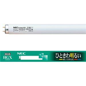(まとめ)NEC蛍光ランプライフルックHGX直管ラピッドスタート形40W形3波長形昼白色FLR40SEX-N/M/36-X/4K-L1パック(4本)【×2セット】